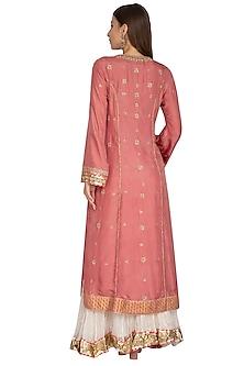 Pink Embroidered Sharara Set by Priyanka Singh