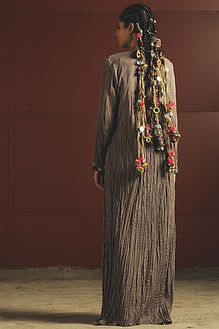 Grey Embroidered Jacket Set by Priyanka Singh