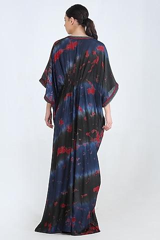 Black Embroidered Maxi Dress by Pinnacle By Shruti Sancheti