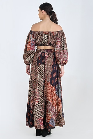 Multi Colored Off Shoulder Top by Pinnacle By Shruti Sancheti