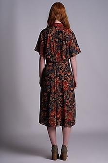Multi Colored Printed Kimono Dress by Pinnacle By Shruti Sancheti