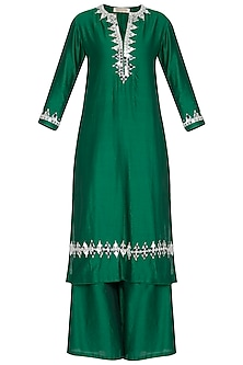 Emerald Green Embroidered Kurta Set by Preeti S Kapoor