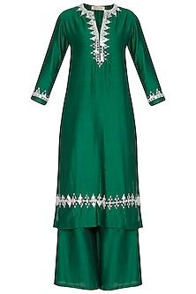 Emerald Green Embroidered Kurta Set by Preeti S Kapoor