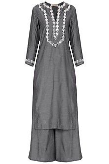 Grey Embroidered Kurta Set by Preeti S Kapoor