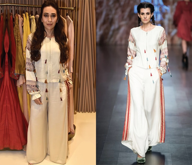 Off White Floral Embroidered Top by Pinnacle by Shruti Sancheti