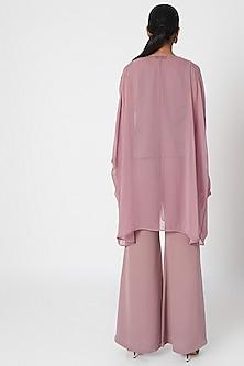 Rosewood Pink Kaftan Top With Inner & Pants by Platinoir