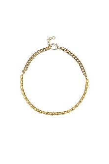 Gold plated swarovski crystals choker necklace by Prerto