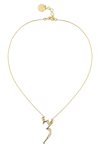 Gold plated customised alphabet pendant necklace by Prerto