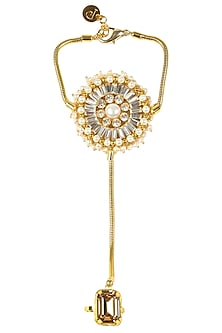 Gold Plated Swarovski Crystal London Eye Hand Harness With Ring by Prerto