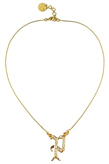 """Gold Plated Customised Alphabet """"P"""" Pendant Necklace by Prerto"""