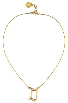 """Gold Plated Customised Alphabet """"D"""" Pendant Necklace by Prerto"""