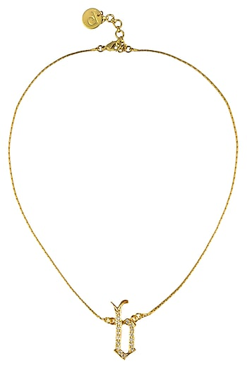 """Gold Plated Customised Alphabet """"B"""" Pendant Necklace by Prerto"""