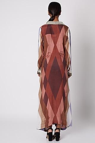 Brown Printed Maxi Dress by Pallavi Jaipur