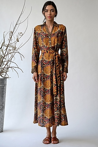 Multi Colored Printed Maxi Dress by Payal Pratap
