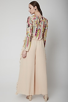 Stone Embroidered Top With Pants by Payal Singhal
