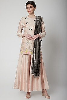 Stone & Black Embroidered Sharara Set by Payal Singhal