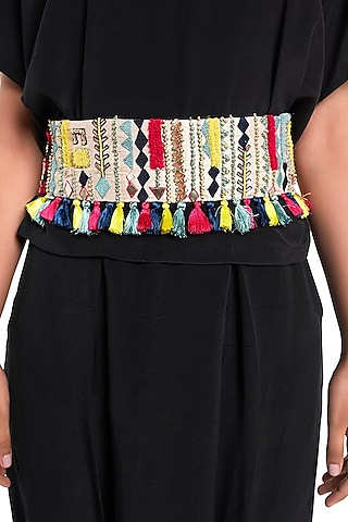 Stone Embroidered Belt by Payal Singhal