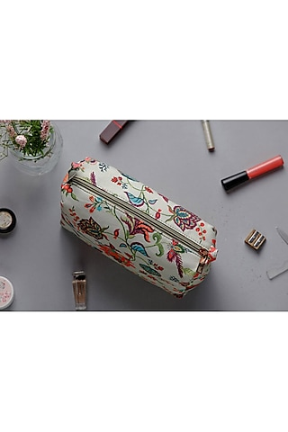 Khaki Chidiya Printed Pouch (Medium) by Payal Singhal