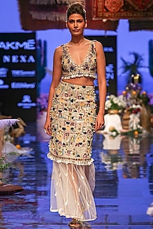 Multi Colored Embroidered Lehenga Set by Payal Singhal