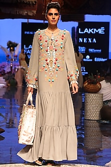 Grey Embroidered Dress by Payal Singhal