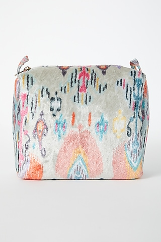 Stone Printed Velvet Pouch by Payal Singhal