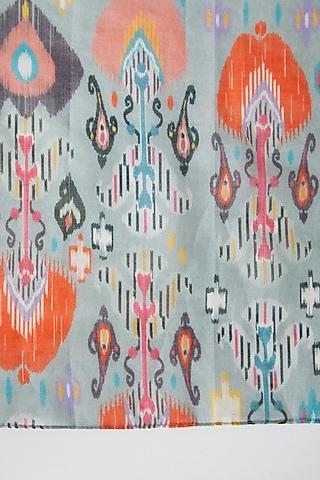 Blue Ikat Printed Silk Pocket Square by Payal Singhal Men