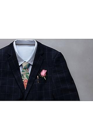 Khaki Anaar & Mor Printed Tie by Payal Singhal Men