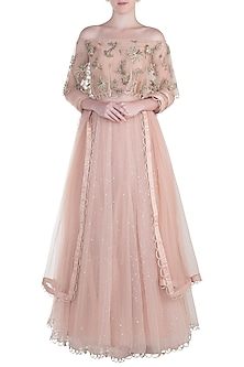 Blush Embroidered Lehenga Set by Payal Singhal