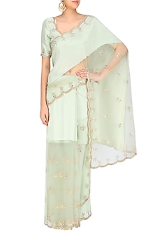 Mint Afreen Saree by Payal Singhal