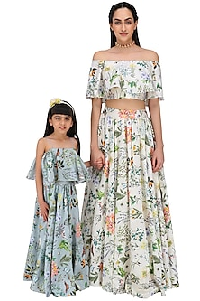Mother and Daughter Printed Lehenga Set by Payal Singhal