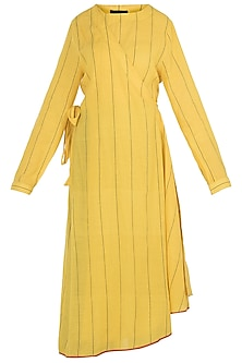 Yellow Wrap Style Dress by Payal Pratap