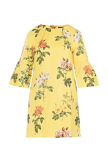 Yellow Printed Dress by Payal Pratap