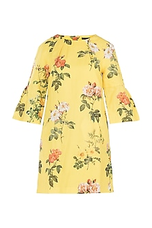 Yellow Printed Dress by Payal Pratap