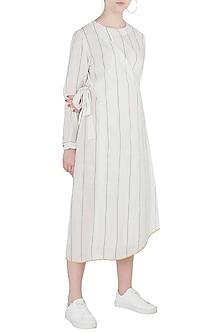 White Wrap Style Tunic by Payal Pratap