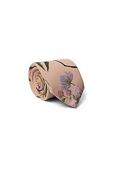 Peach Bageecha Printed Tie by Payal Singhal Men