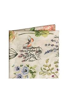 Ivory Titli Printed Pocket Square by Payal Singhal Men