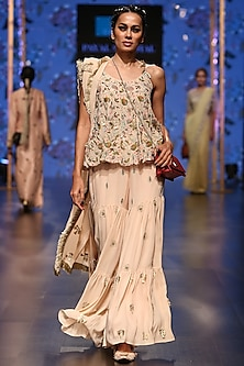 Blush Embroidered Sharara Set by Payal Singhal