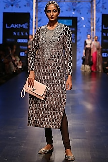 Forest Green Embroidered Kurta With Churidar Pants by Payal Singhal