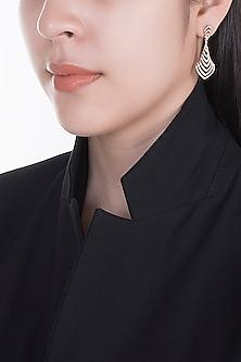 18kt Rose gold diamond cascade earrings by Qira Fine Jewellery