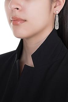 18kt Rose gold diamond spectrum earrings by Qira Fine Jewellery