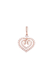 18kt Rose gold diamond infinity heart pendant by Qira Fine Jewellery
