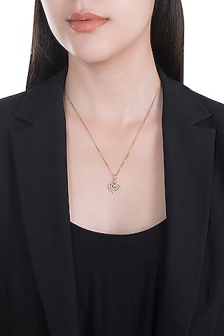18kt Rose gold diamond infinity heart pendant by Qira Fine Jewellery