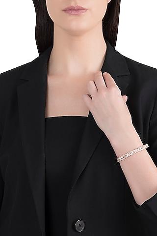 18kt Rose gold diamond infinity bracelet by Qira Fine Jewellery