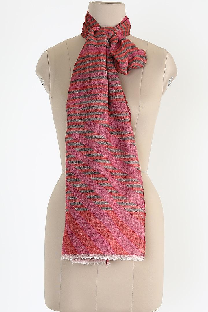 Pink Silk Cashmere Shawl by Queenmark