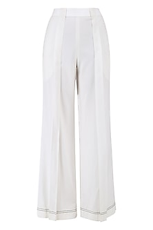 White Box Pleated Trouser Pants by QUO