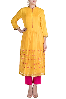 Yellow Embellished Tunic by RAR Studio
