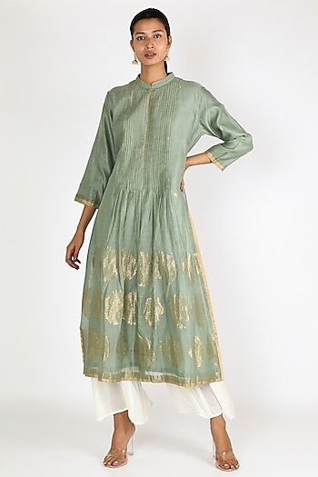 Mint Green Peacock Tunic by Rar Studio