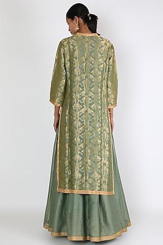 Moss Green Embroidered Anarkali Set by Rar Studio