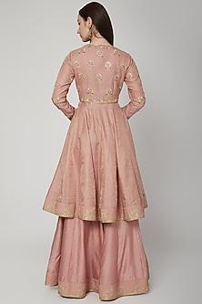 Blush Pink Embroidered Anarkali Set by RAR Studio
