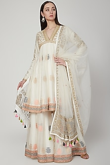 White Embroidered Anarkali Set by RAR Studio-SHOP BY STYLE